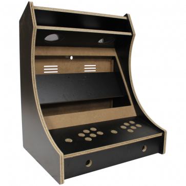 2-Player bartop kabinet, Sort melamin, Usamlet