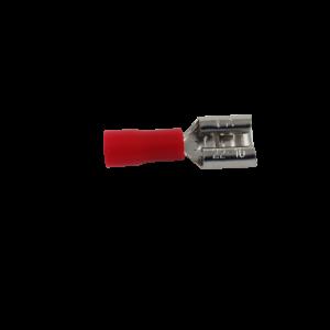 6.4mm Kabelsko Rød (Hun)