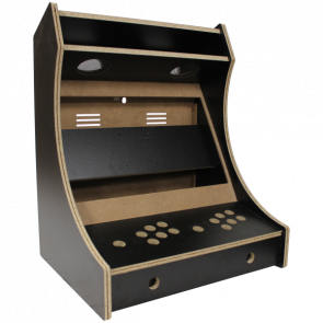 2-Player bartop kabinet, Sort melamin
