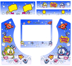 Bubble Bobble Bartop Decal sæt