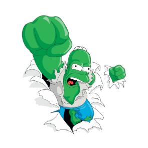 Homer Hulk Side Art, Venstre